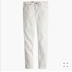 """J. CREW 8"""" toothpick jean in white size 26"""